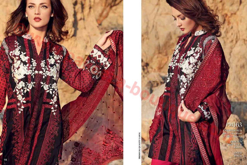 Gul Ahmed Summer Premium Lawn 2017 suit PM-163