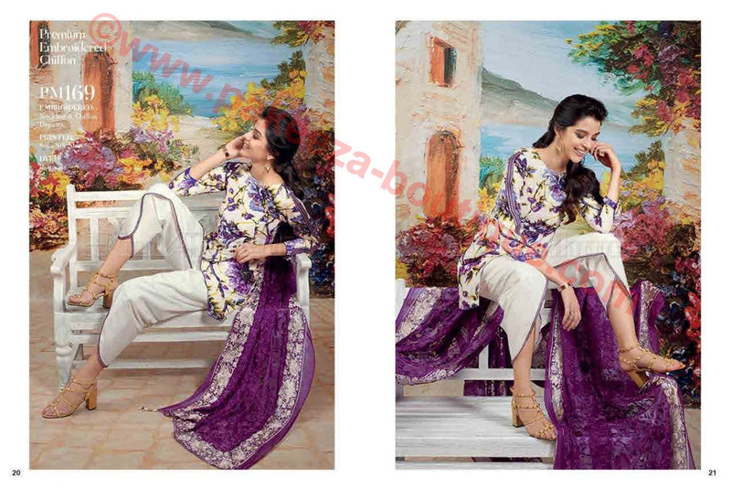 Gul Ahmed Summer Premium Lawn 2017 suit PM-169