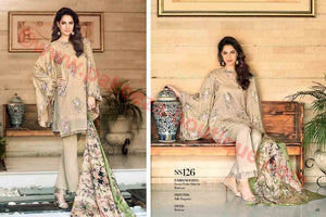 Gul Ahmed Summer Premium Lawn 2017 suit SS-126