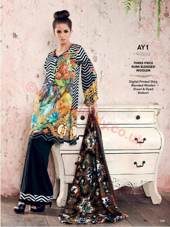 Gul Ahmed Winter 2017 Suit AY1