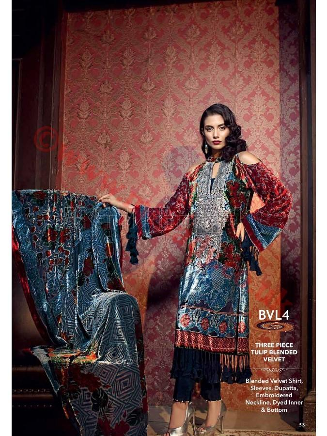 Gul Ahmed Fall Winter Suit BVL4