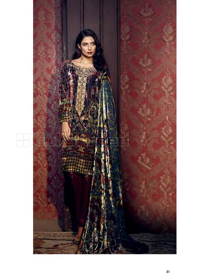 Gul Ahmed Fall Winter suit BVL6