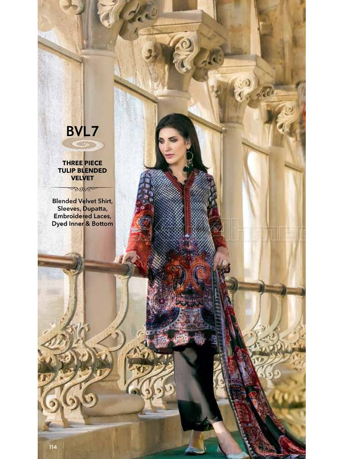 Gul Ahmed Winter 2017 Suit BVL7