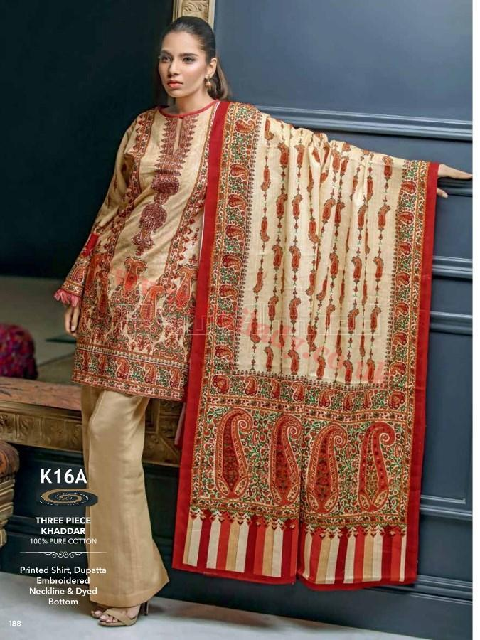 Gul Ahmed Fall Winter Suit K16A