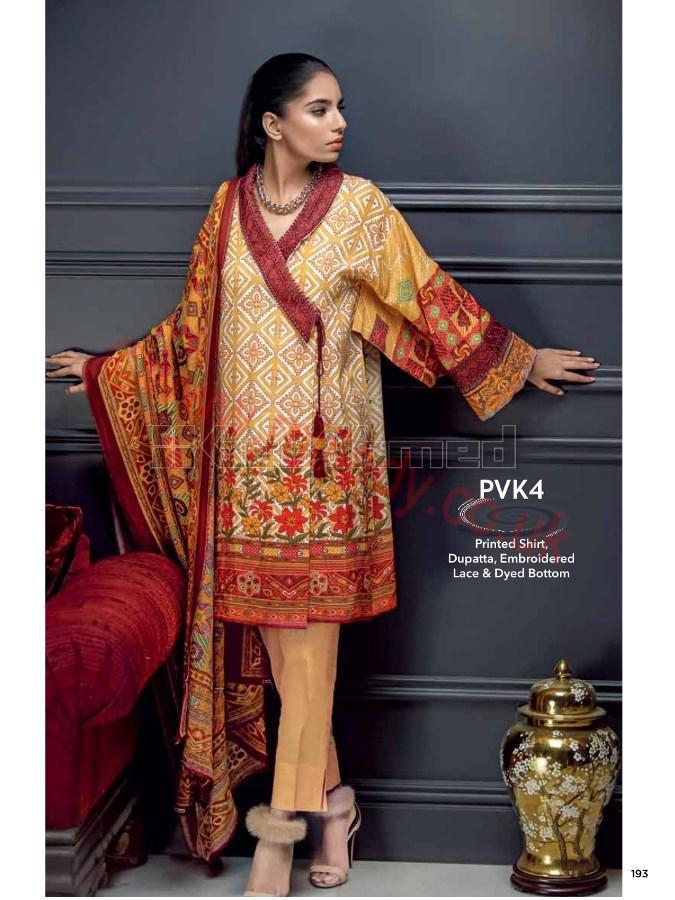 Gul Ahmed Fall Winter Suit PK54