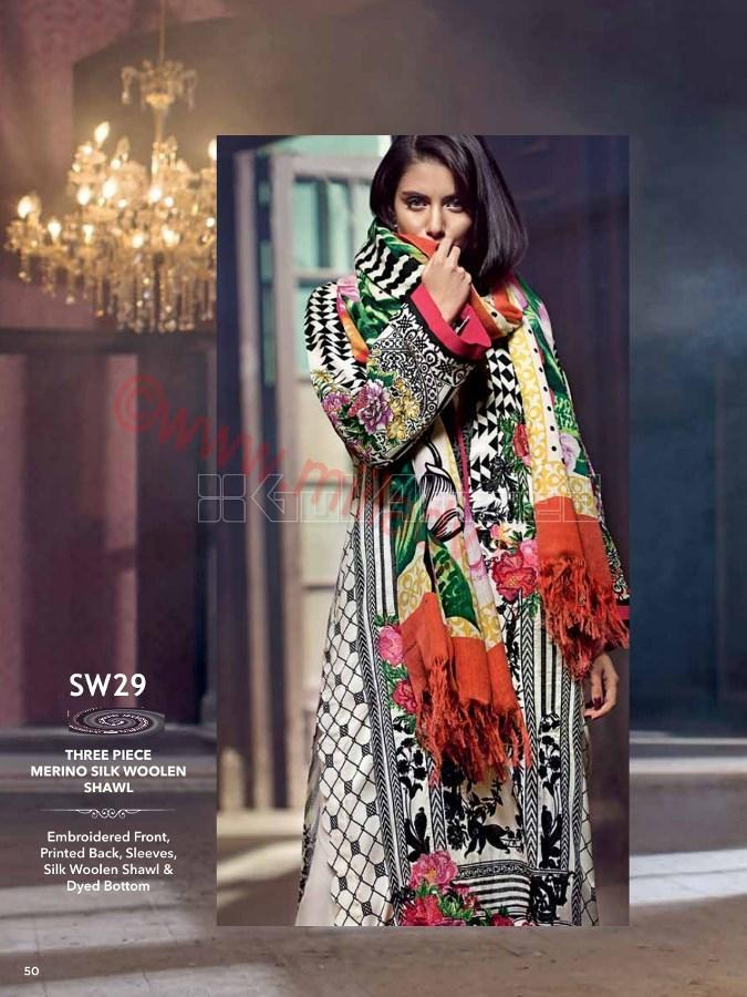 Gul Ahmed Fall Winter Suit SW29_2017
