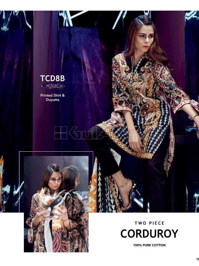 Gul Ahmed Winter 2017 Suit TCD8B