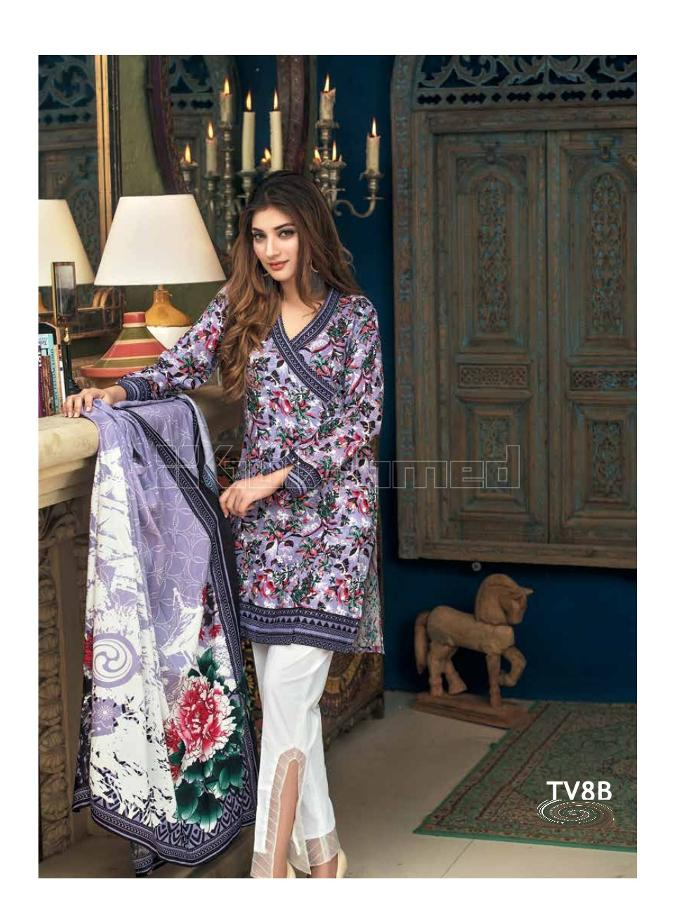 Gul Ahmed Winter 2017 Suit TV8B