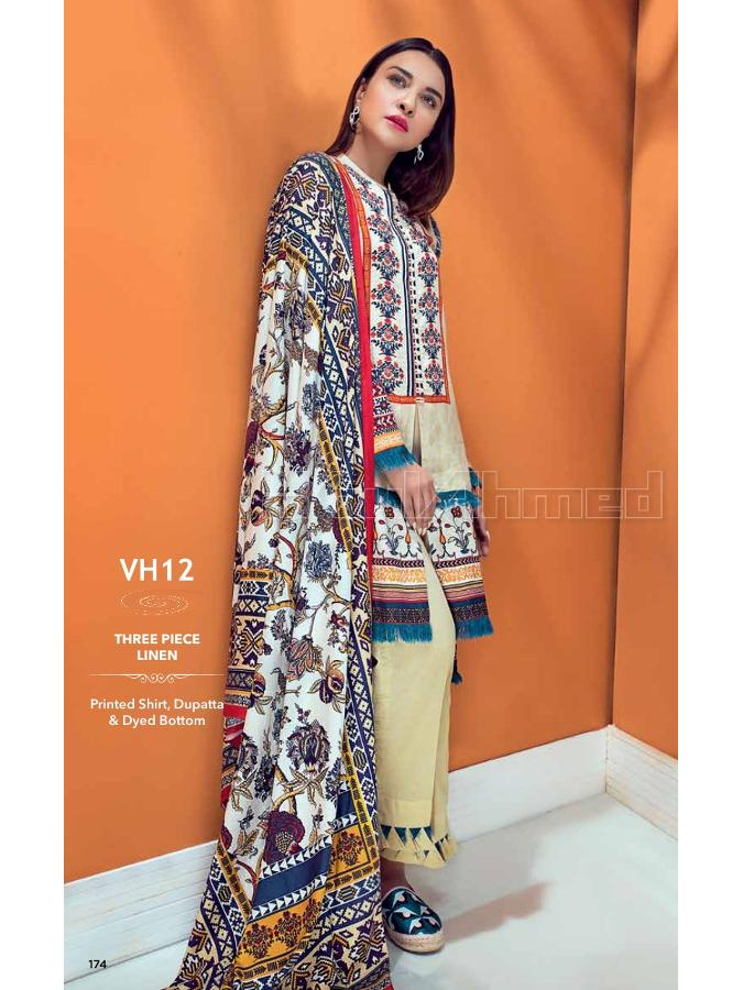 Gul Ahmed Winter Suit VH12