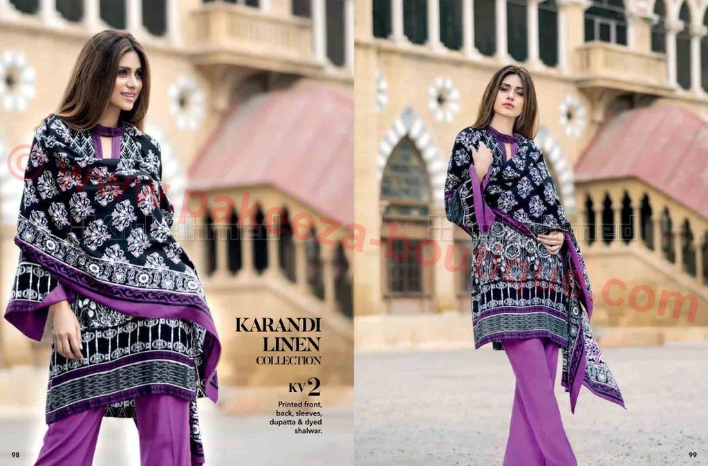 Gul Ahmed Winter Vol2 2016 suit KV-2