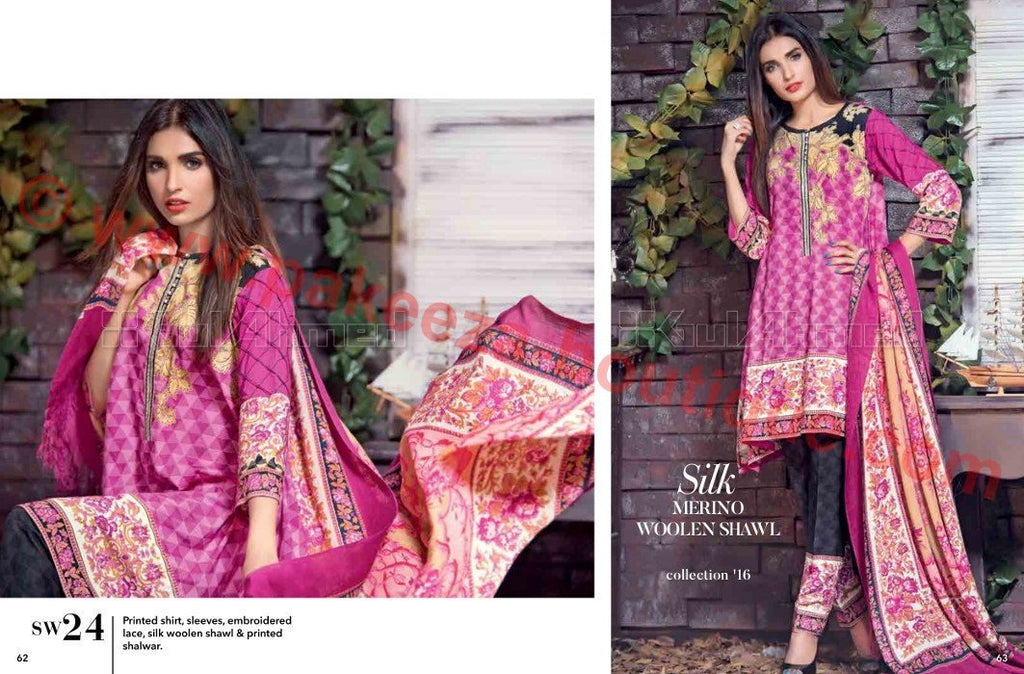Gul Ahmed Winter Vol2 2016 suit SW24
