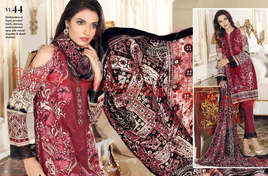 Gul Ahmed Winter Vol2 2016 suit VL-44