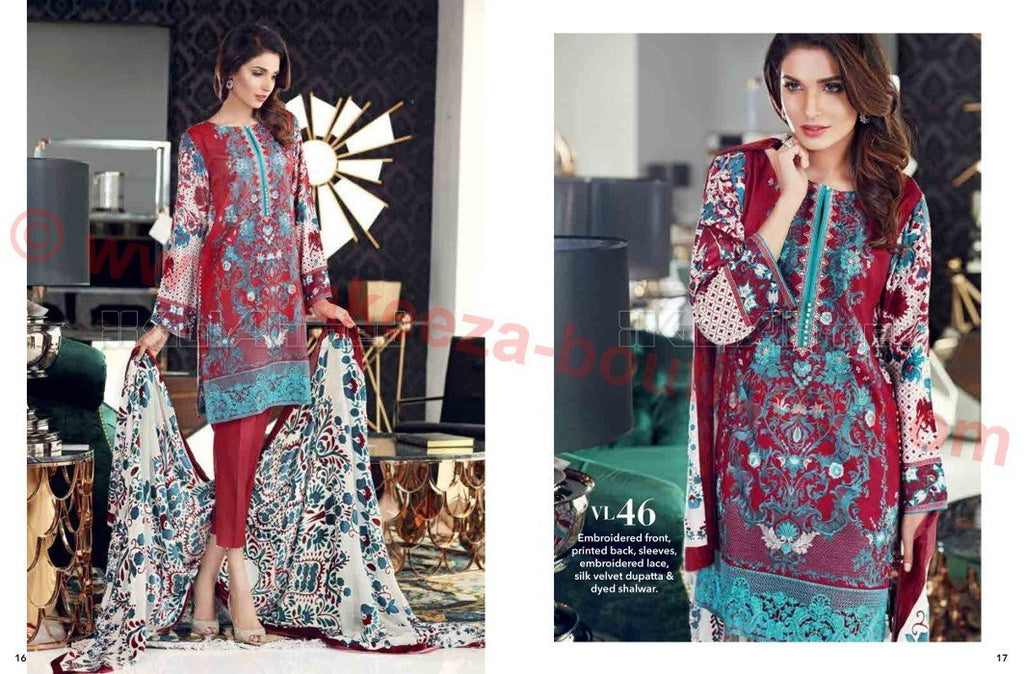 Gul Ahmed Winter Vol2 2016 suit VL-46