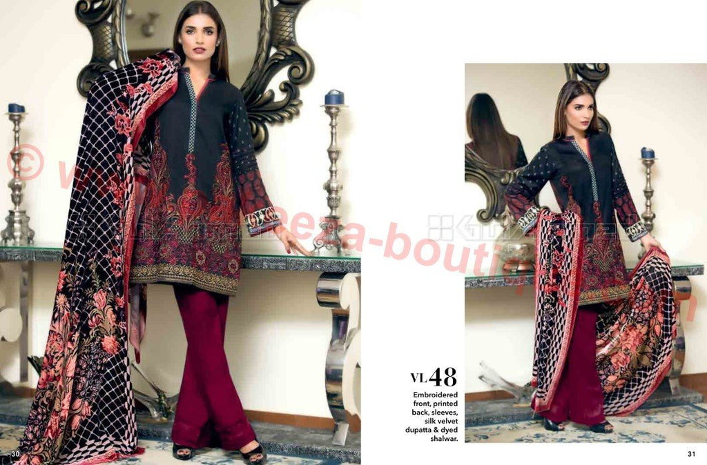 Gul Ahmed Winter Vol2 2016 suit VL-48