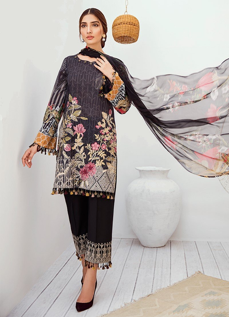 Iznik Chinon Lawn Vol-3 2019 suit ICL-05 Moonless Night