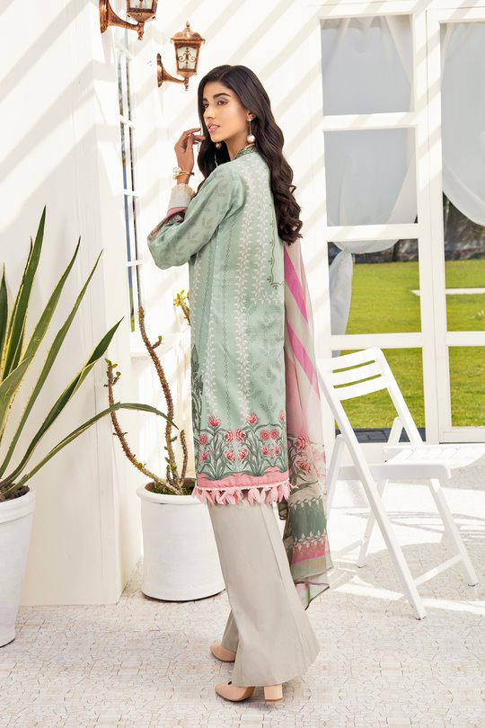 Iznik Chinon Lawn 2020 suit CL20-03 Lemongrass