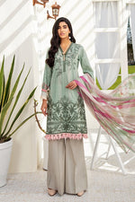 Iznik Chinon Lawn 2020 suit CL20-03 Lemongrass - Embroidered shirt with chiffon dupatta