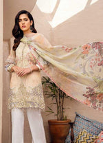 Iznik Chinon Lawn Vol2 suit ICL-11 - Embroidered Lawn Lime colour kameez with printed chiffon dupatta