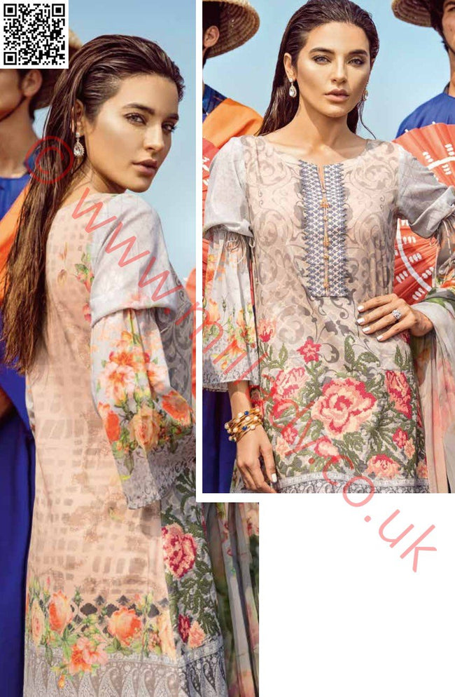 Iznik Chinon Luxury lawn 2018 suit TOURMALINE