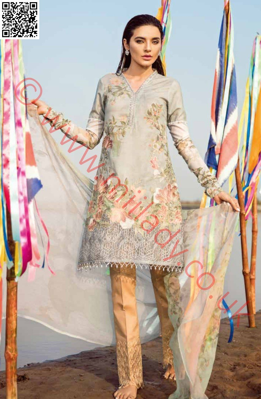 Iznik Chinon Luxury Lawn 2018 suit ZIRKON