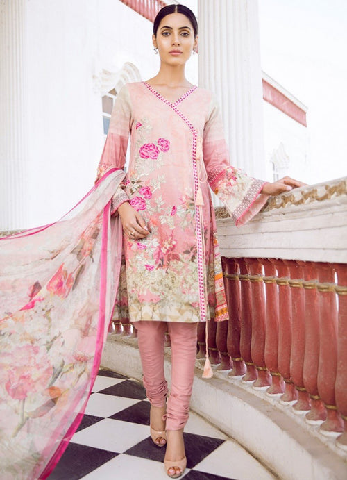 Iznik Guzel Lawn Vol2 2018 suit CARNATION (GLL04)