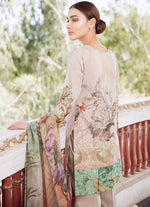 Iznik Guzel Lawn 2018 suit PEACH (GLL10) - Peach embroidered kameez with printed chiffon dupatta
