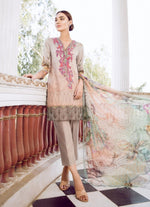 Iznik Guzel Lawn Vol2 2018 suit PEACH (GLL10) - Peach embroidered kameez with chiffon dupatta