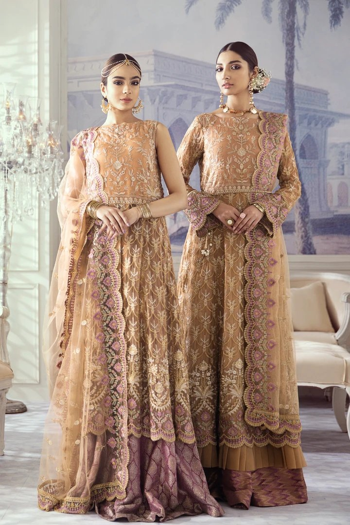 Iznik Imperial Dreams Chiffon Collection 2020 suit Regal Rose (Id-02)