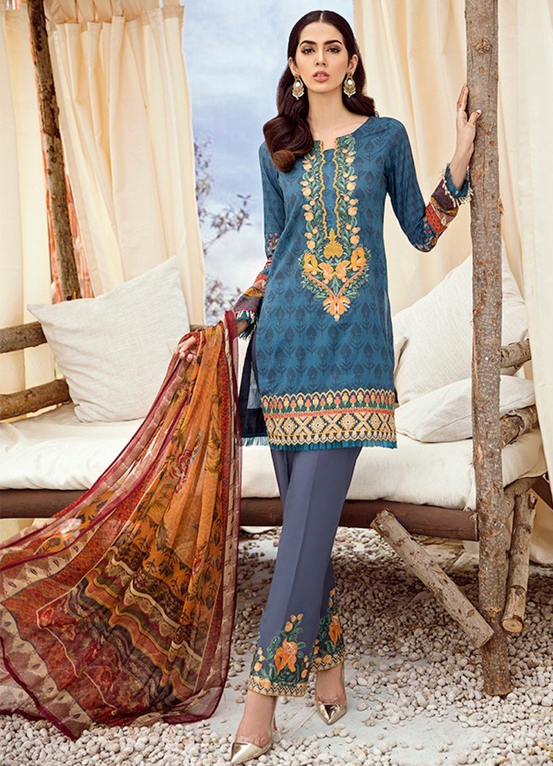 Iznik Chinon Lawn Vol-3 2019 suit ICL-03 Faience