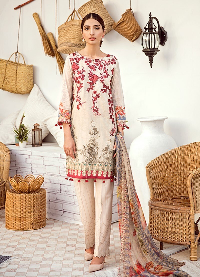 Iznik Chinon Lawn Vol-3 2019 suit ICL-11 Seed Pearl