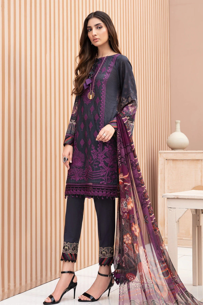 Jazmin IRIS Lawn Vol-2 Lunara  - Unstitched Suit