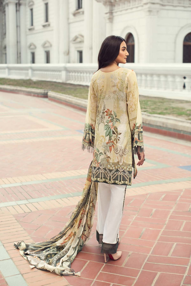 IRIS By Jazmin Summer Lawn Collection 2019 suit Ivy Gold
