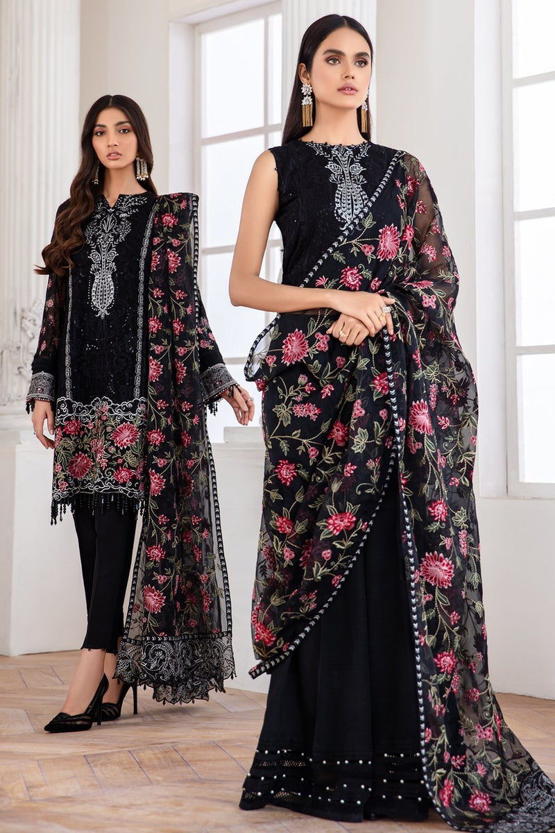 Jazmin Mahpare Luxury Collection 2020 Net Black suit Mehlika