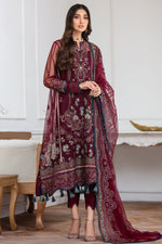 Jazmin Mahpare Luxury Collection 2020 Net Maroon suit Soulmaz