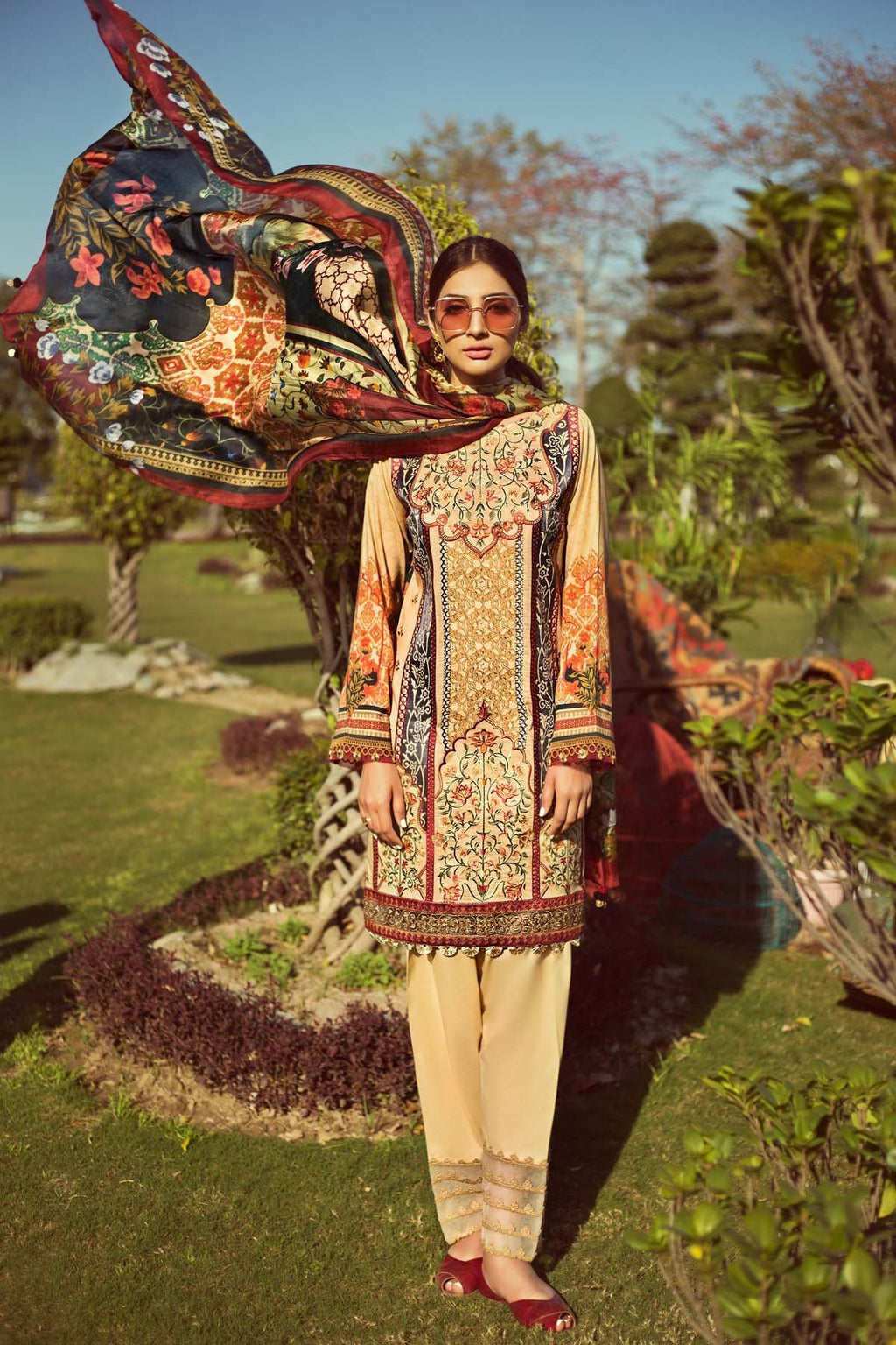 Jazmin Persuit Of Wanderlust Lawn 2019 suit Mandarin