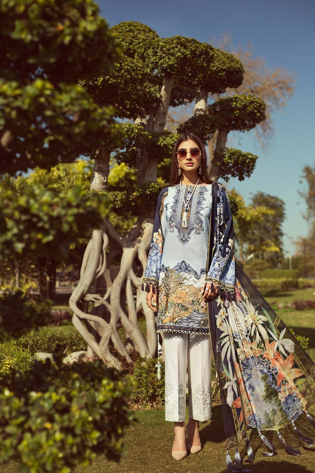 Jazmin Persuit Of Wanderlust Lawn 2019 suit Heaven Hue