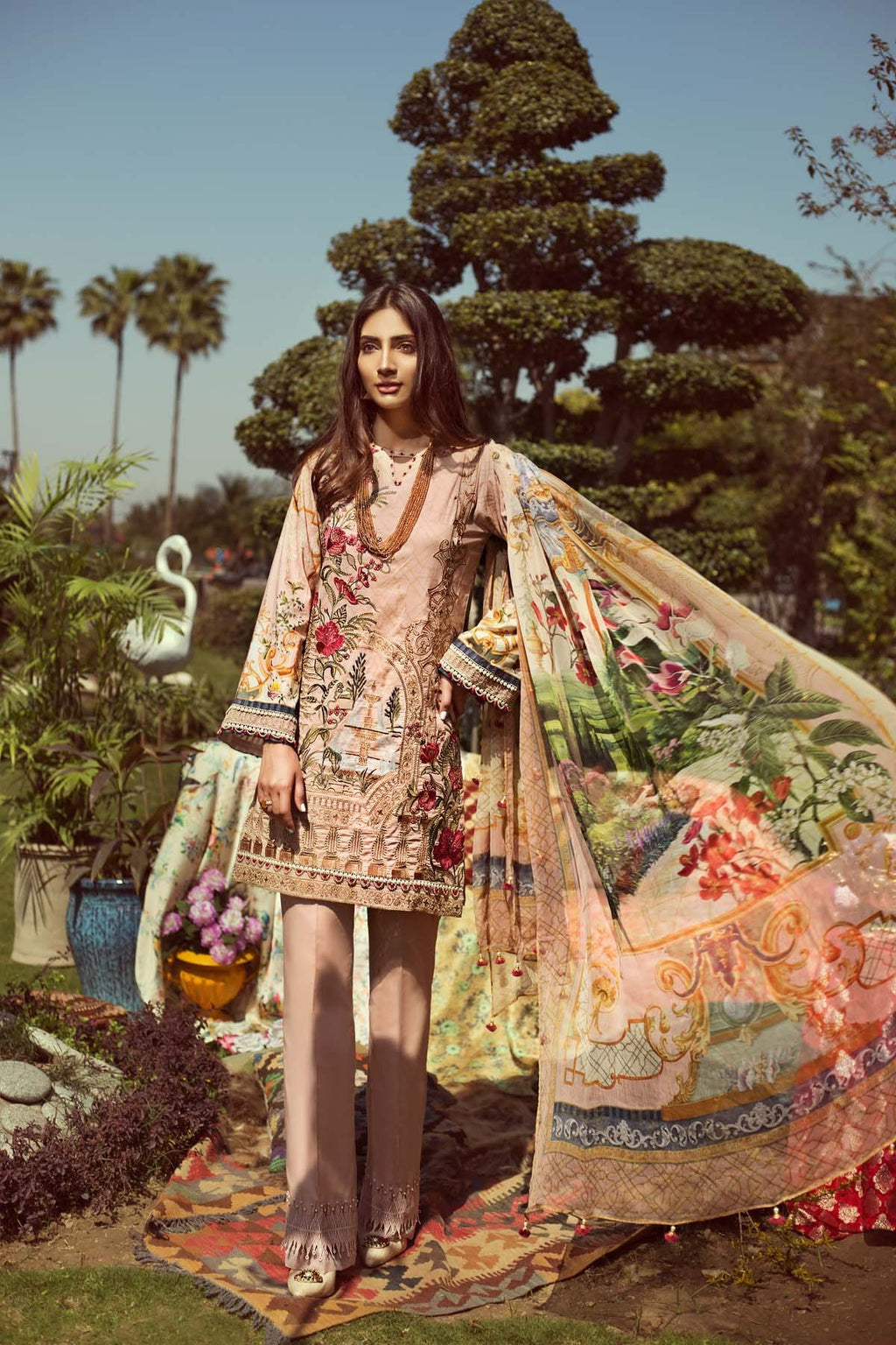 Jazmin Persuit Of Wanderlust Lawn 2019 suit Tropical Zest