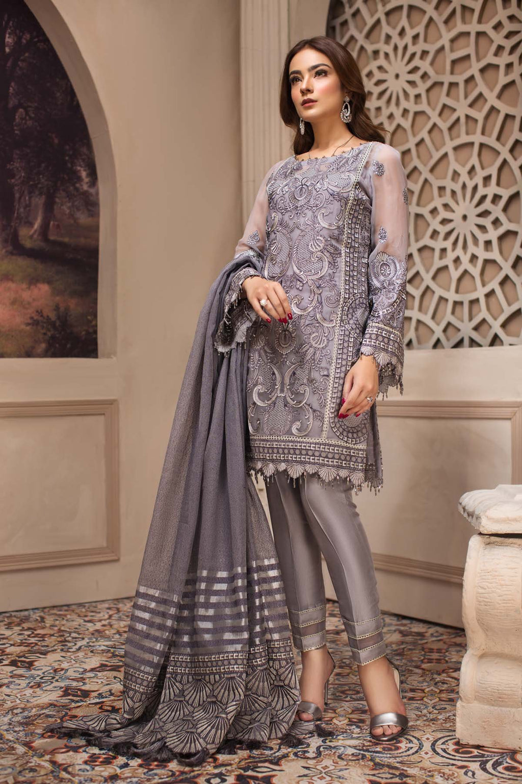 Jazmin SHAHNAMEH Eid Collection 2019 suit Afshaneh