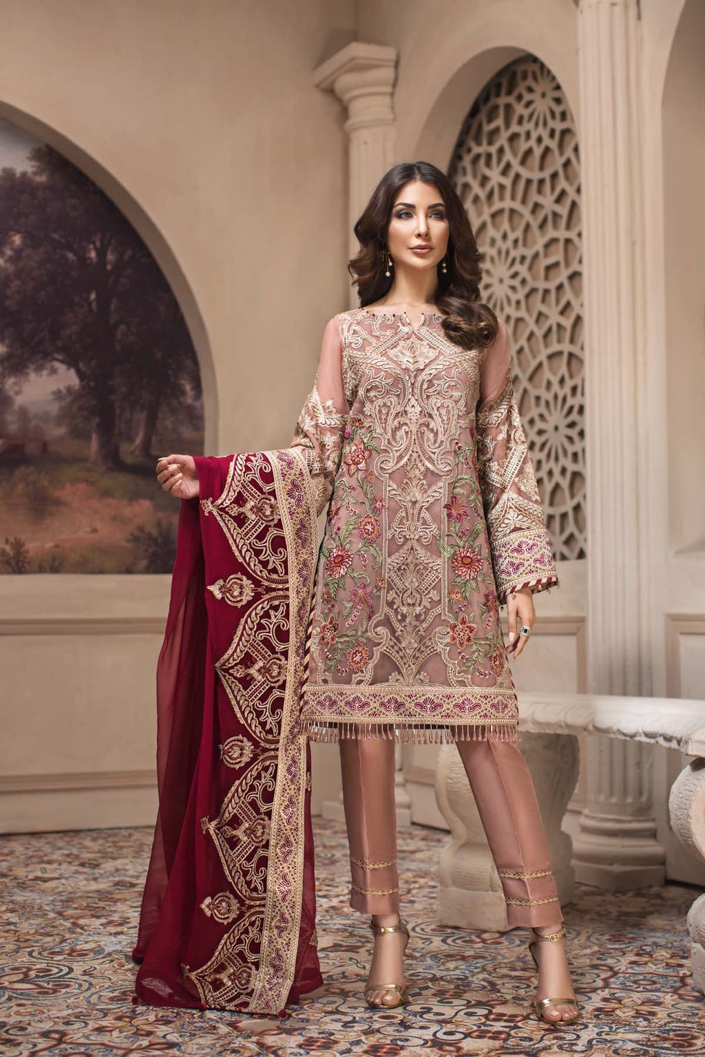 Jazmin SHAHNAMEH Eid Collection 2019 suit Cyra