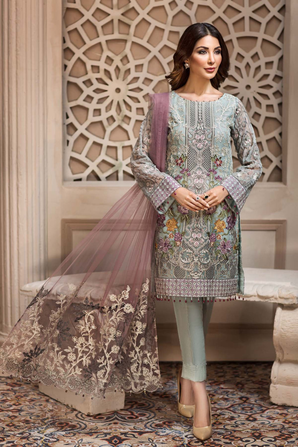 Jazmin SHAHNAMEH Eid Collection 2019 suit Larminá