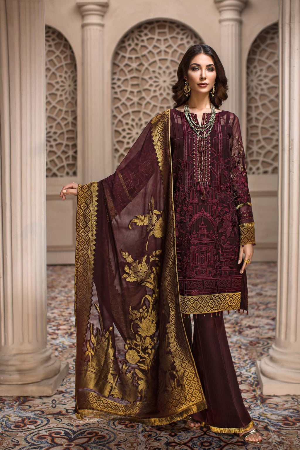 Jazmin SHAHNAMEH Eid Collection 2019 suit Royelle