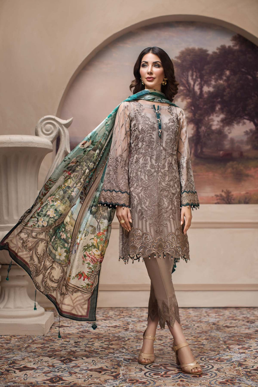Jazmin SHAHNAMEH Eid Collection 2019 suit Shahwar