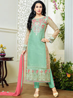 MF Embroid Vol-3 Sea Green Georgette suit 76008