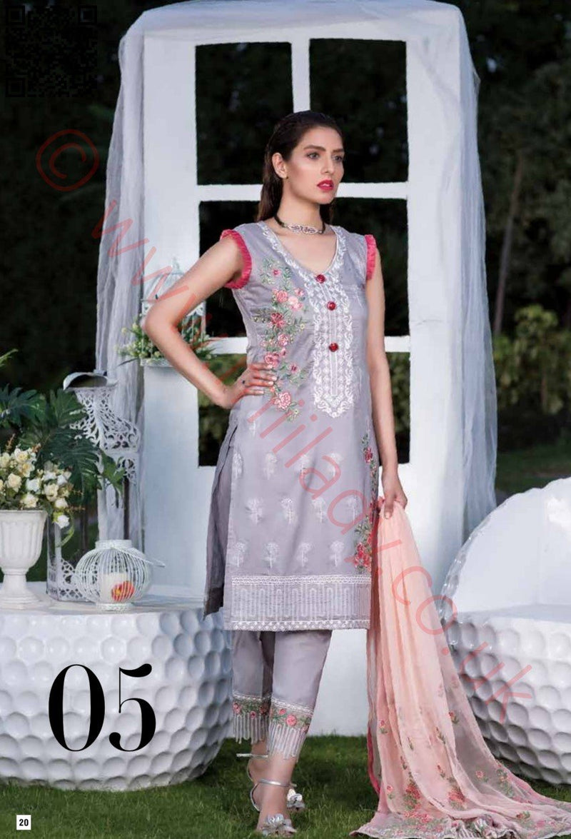 Manizay Embroidered Lawn Vol2 2018 suit D#05