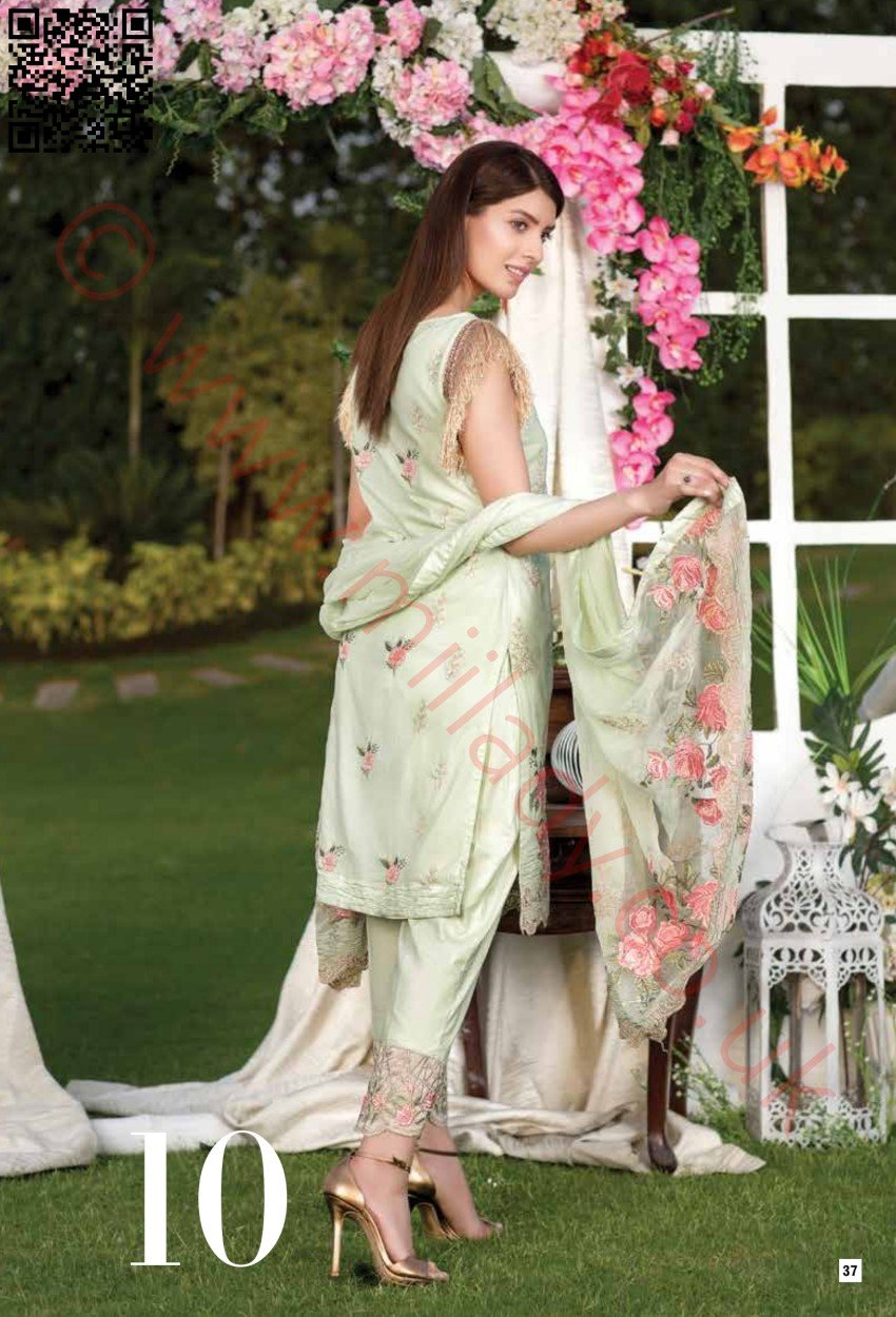 Manizay Embroidered Premium Lawn Vol2 2018 suit D#10