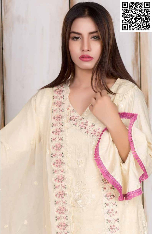Manizay Embroidered Lawn Vol3 2018 suit D#15