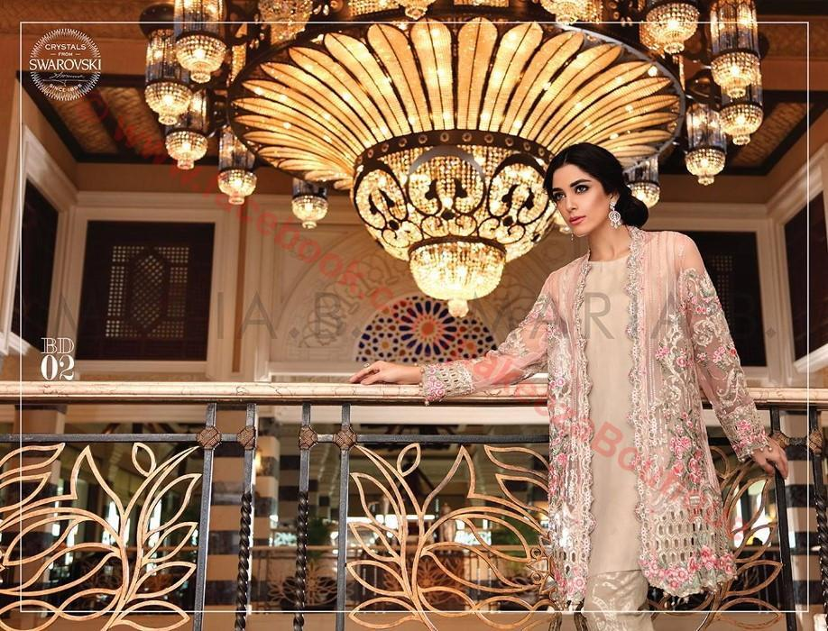 Maria B Embroidered Eid 2016 suit BD-802