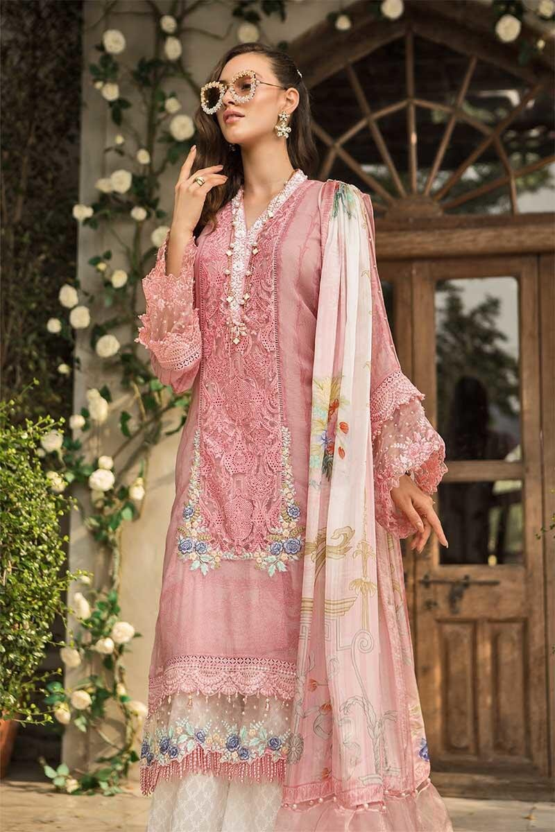 Maria B Lawn Eid Collection 2019 suit D-606