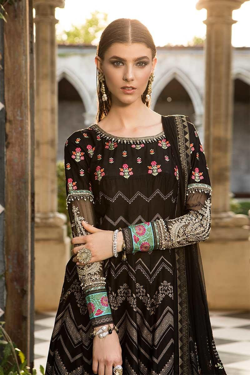 596c3ffcff Maria B Lawn Eid Collection 2019 suit D-609- Black Lawn Kameez with  embroidered