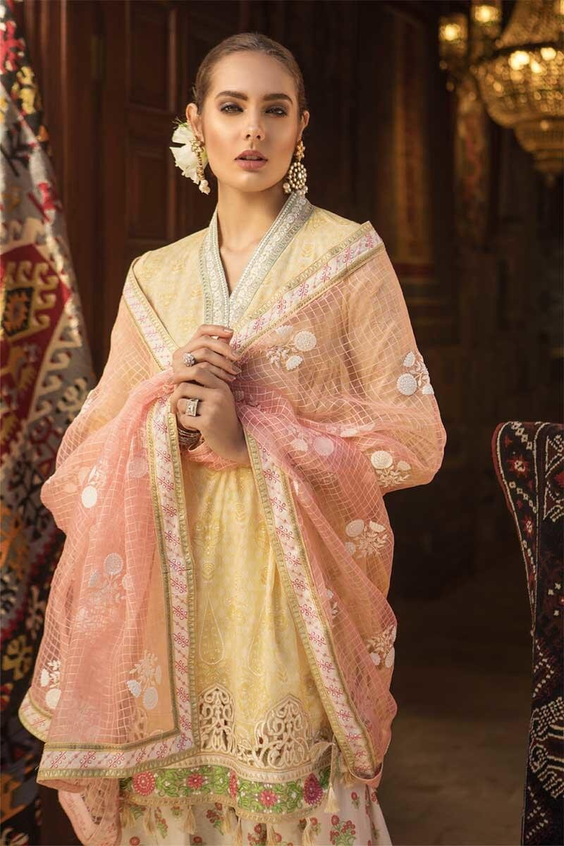 Maria B Voyage Spring/Summer Lawn D-1907B - Embroidered Kameez with Organza dupatta